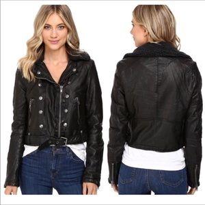 Free People Asheville Vegan Leather Moro Jacket